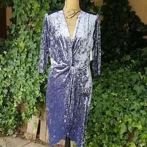 Alexa Admor Dress NWT Sz L Crushed Velvet